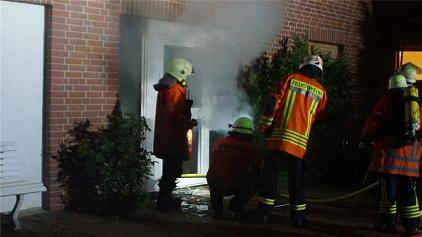 Dichter Rauch drängte aus dem betroffenen Bereich©Freiwillige Feuerwehr Essern
