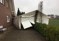 Zelt des Fördervereins nach Sturmtief Friederike